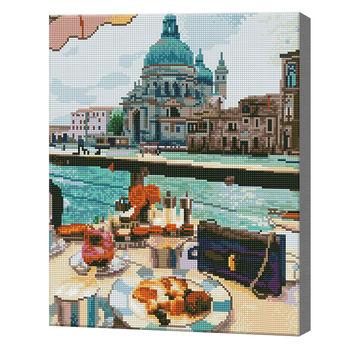 Ланч в Венеции, 40x50 см, алмазная мозаика Артукул: QA204243