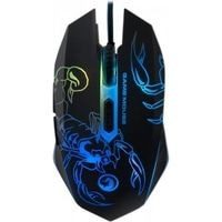 "MARVO ""M316"", Gaming Mouse, 800/1200/1600/2400dpi adjustable, Optical sensor, 6 buttons, 7 colors lights cycling in breathing mode, Braided cable, USB, Black"