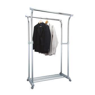 купить Вешалка стойка для одежды Axentia Twin in Silber 122647 в Кишинёве