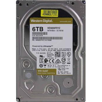 "3.5"" HDD 6.0TB  Western Digital WD6003FRYZ Enterprise Class® Gold™, 512E model, 7200rpm, 256MB, SATAIII"