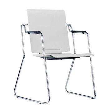купить Офисный стул из пластика с хромированными ножками, серый в Кишинёве