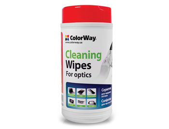 ColorWay CW-1073 Optic Cleaning Wipes Dispenser Dry 50pcs - Wet 50pcs