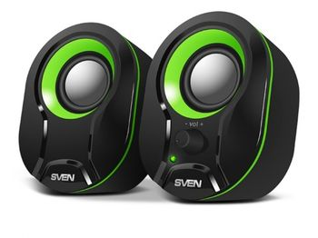 "купить Speakers  SVEN ""290"" Black/Green, 5w, USB в Кишинёве"