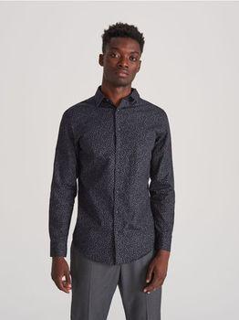 Рубашка RESERVED Черный с принтом vx759-59p