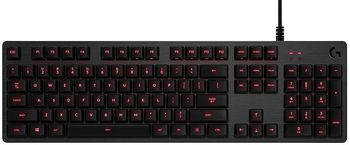 Logitech Mechanical Gaming Keyboard G413 Carbon, Backlighting RED LED, Romer G, USB