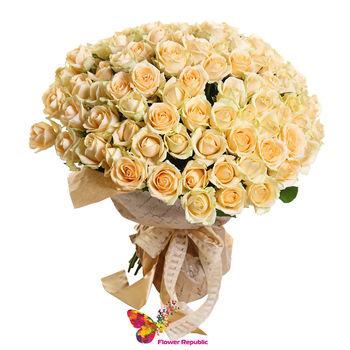 купить Букет  кремовых роз  Ecuador 40-50 см в Кишинёве