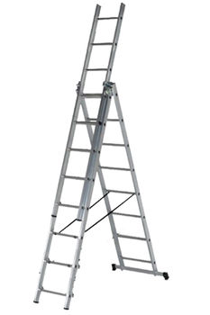 купить Ascara . VHR TK 3x8 Лестница алюминиевая трехсекционная Elkop в Кишинёве