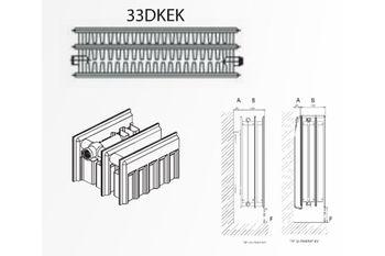 Радиатор стальной DemirDokum T.33 300 x 1400 мм