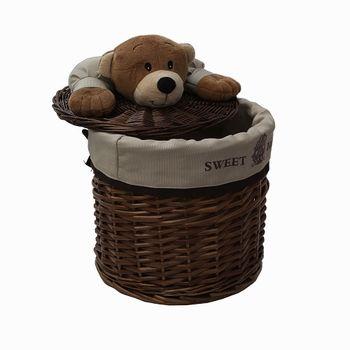 купить Корзина с медвежонком 280x260 мм, коричневый в Кишинёве