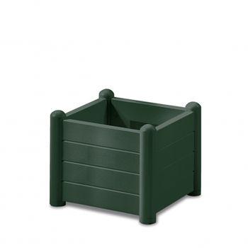 купить Цветочный горшок Italia квадратный 430х430х350 мм, зелёный в Кишинёве