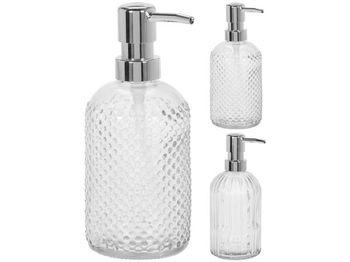 Диспенсер для жидкого мыла H19cm, D8cm, стекло