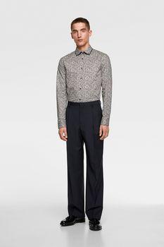 Рубашка ZARA Принт цветочек zara 5445/312/061
