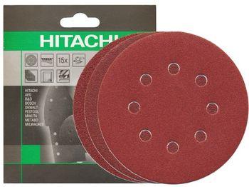 купить Набор шлифовальных кругов d125 K60/80/120 (15 шт.) HITACHI-HIKOKI в Кишинёве