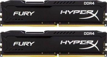 8GB (Kit of 2*4GB) DDR4-2666  Kingston HyperX® FURY DDR4, PC21300, CL16, 1.2V, Auto-overclocking, Asymmetric BLACK heat spreader, Intel XMP Ready  (Extreme Memory Profiles)
