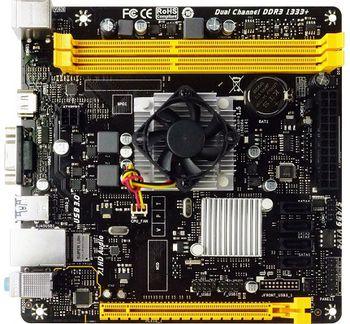 Biostar A68N-5600, MB + CPU onboard: Quad-core AMD A10-4655 (2.0-2.8GHz), 2xDDR3-1600, AMD Radeon HD7620G Graphics, HDMI, 1x PCI-Ex16, 4xSATA3, RAID, COM Header, Realtek ALC887 8-Ch HD Audio, Gigabit LAN, 2xUSB3.0(5Gb/s), mini-ITX