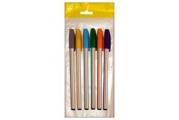 """Набор ручек шариковых """"Dunghi"""" 0.70mm 6шт, разноцветные"""