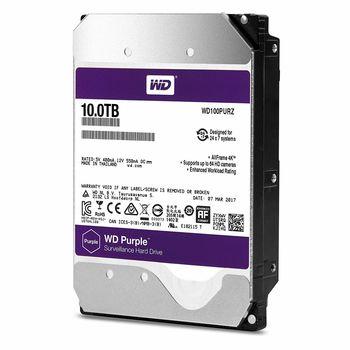 """купить Жесткий диск 3.5"""" HDD 10.0TB-SATA- 256MB Western Digital  """"Purple Surveillance (WD100PURZ)"""" в Кишинёве"""
