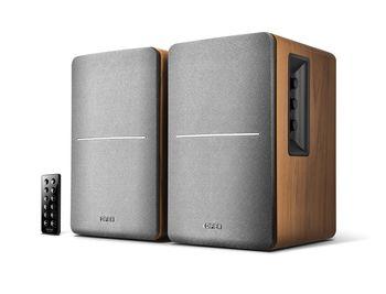 "Edifier R1280DB Brown, 2.0/ 42W (2x21W) RMS, Audio In: Bluetooth, RCA x2, optical, coaxial, AUX, remote control, wooden, (4""+1/2')"