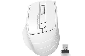 Wireless Mouse A4Tech FG30, White/Grey