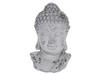 """Statuie """"Cap de Buddha"""" 20cm, gri"""