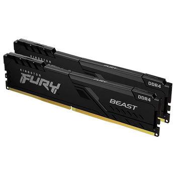 Memorie operativa 16GB DDR4 Dual-Channel Kit Kingston HyperX FURY Beast Black KF430C15BBK2/16 16GB (2x8GB) DDR4 PC4-24000 3000MHz CL15, Retail (memorie/память)