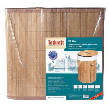 купить Корзина для белья (круглая) с внутренним чехлом Tatkraft VESTA 11137 в Кишинёве