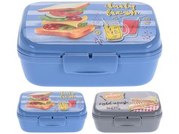 "Lunch-box ""Sandwich"" 1l, 16X13X7cm, 2 culori"
