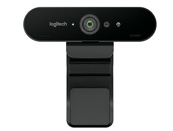 Logitech BRIO Ultra HD PRO Webcam, 4K Ultra HD video calling (up to 4096 x 2160 pixels @ 30 fps), 1080p/60fps, HDR, Autofocus, Stereo Microphone, 960-001106