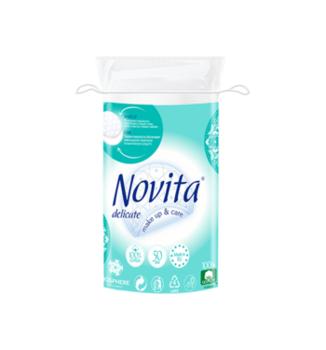 купить Косметические ватные диски Novita Delicate, 50 шт. в Кишинёве