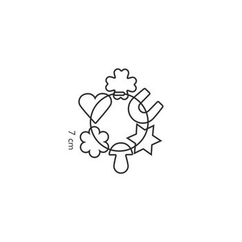 Формочки для печенья на кольце DELÍCIA, 6 шт