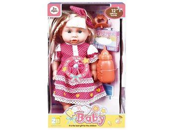 Кукла со звуком и аксессуарами (роз кружево), 32X18.5X11cm