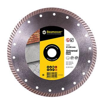 купить Алмазный диск Baumesser Turbo 230x2,3x9x22,23 Baumesser Universal в Кишинёве