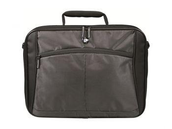 "PORT NB bag 12-13"" - Fashion Line/LUGANO M BLACK Bag-exclusiv velvet touch bag for Notebook organise"