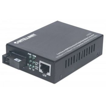 Fast Ethernet Media Converter WDM (1x10/100Base-TX , 1x100Base-FX), 10km, 1550/1310 nm, DC 48V:
