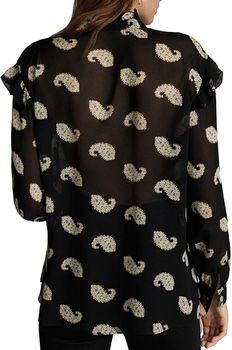 Блуза Massimo Dutti Черный с принтом 5136/812/800