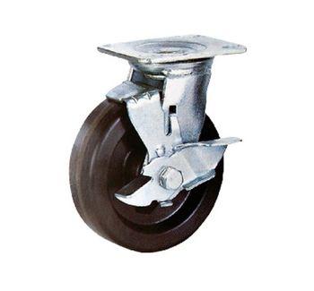 Колесо поворотное с тормозом– Ø125,300кг