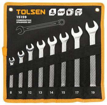 купить Набор ключей комбинированых -  8шт в чехле (8-19мм) TOLSEN в Кишинёве
