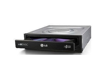 LG SuperMulti DVD-RW GH24NSD5 Black, M-DISC Support, SATA, Dual Layer, 24xDVD+-R/8x DVD+-R DL/5x DVD-RAM/48xCDR/ 32xCDRW /16xDVD/48xCD (unitate optica interna DVD-RW/оптический привод внутренний DVD-RW)
