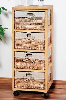 купить Комод деревянный 4-х ярусный 34x82x31 cm. 14217 в Кишинёве