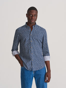 Рубашка RESERVED Синий в цветочек xb713-59x