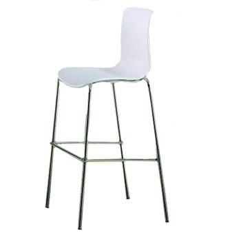 купить Барный стул, 540x520x1120 мм, белый в Кишинёве