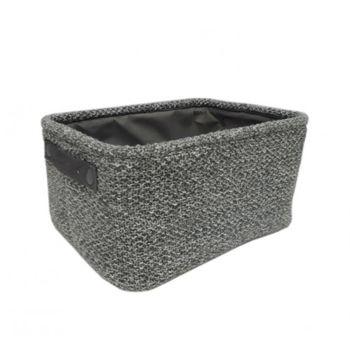 cumpără Coș tricot 360x260x180 mm, gri închis în Chișinău