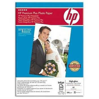 HP Premium Plus Photo Paper, High-Gloss, 280g/m2, A3 (20 sheets)