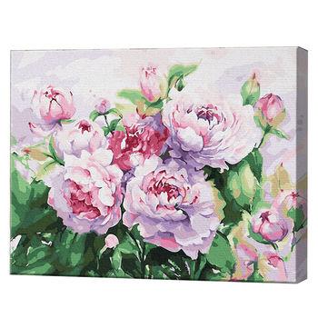 Розовые пионы, 40х50 см, картина по номерам Артукул: GX34228