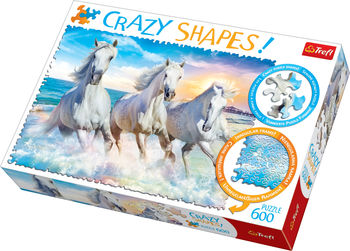 """Пазлы """"600 Crazy Shapes"""" - """"Galloping among the waves"""", код 42158"""