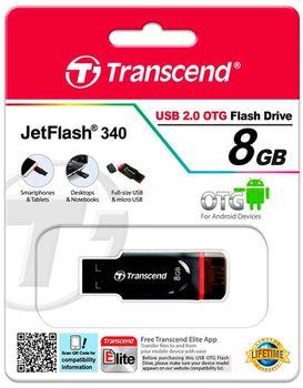 cumpără Micro-USB Flash Drive Transcend JetFlash 340 8Gb în Chișinău