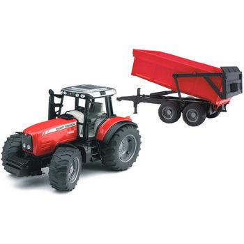 Трактор с прицепом Massey Ferguson 7480, код 43225