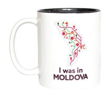 купить Кружка в черном оформлении – I was in Moldova в Кишинёве