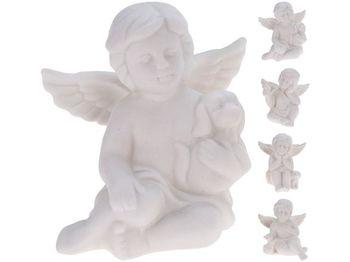 Статуэтка Ангел с животным сидящий 4 дизайна 6X6X5сm, фарфор