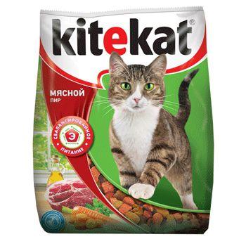 cumpără Kitekat Мясной пир (Сухой корм для взрослых кошек) în Chișinău